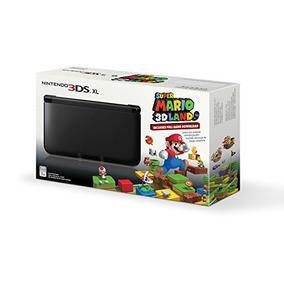 Negro Nintendo 3ds Xl Con (pre-instalado) Super Mario 3d De