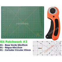 Kit Base De Corte + Régua + Cortador Patchwork Scrapbook #3