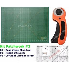 Kit Base De Corte + Régua + Cortador Patchwork Scrapbook #3