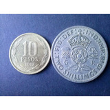 Moneda Inglaterra Two Shilling 1948 Niquel (c10)