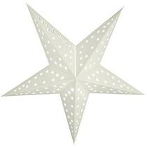 Quasimoon 24 Blanco Sólido Cut-out Estrella De Papel Linter
