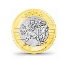 Moeda Olimpíadas Rio 2016 - Box, Judô, Futebol, Mascotes Etc