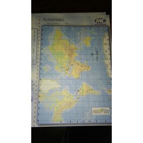 Mapa Planisferio Nº3 - Fisico Politico. Block Por 40 Unid.