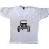 Remera Autos Diseño Jeep Talle Xl