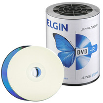 100 Dvd-r Elgin 4.7gb 16x Printable