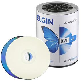 100 Dvd-r Elgin 4.7gb 16x Printable