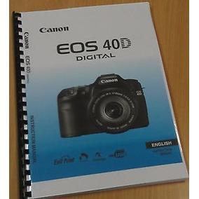 Manual De Usuario Canon Eos 40d Link