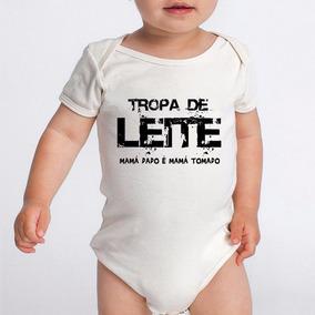 Body Bebe Frases Engraçadas Tropa De Leite Branco