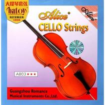 Juego De Cuerdas Para Violoncello Alice A803