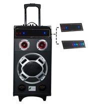 Caixa De Som Amplificada Usb/sd/fm 200 W Yj102 Rms X-cell
