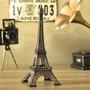 Enfeite Miniatura Torre Eiffel Metal Paris Decoração 38cm