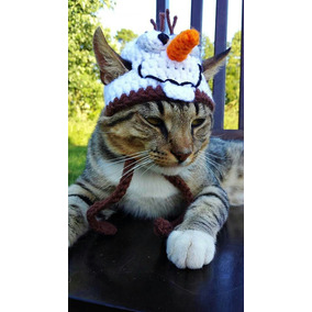 Touca De Croche Olafe (frozen) Para Gatos E Cachorro