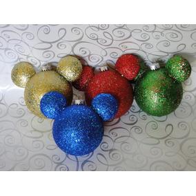 Kit Navidad Esferas Mickey Adorno Decoración Navideña Disney