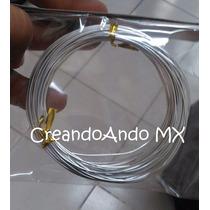 Alambre Para Bisuteria Aluminio 0.8 Mm X 10 Mts Color Plata