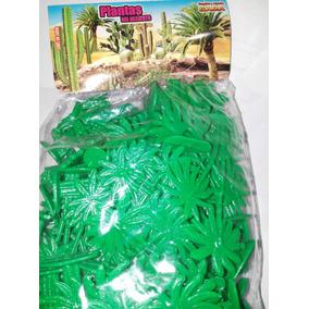 Gcg Lote Plantas Del Desierto Plastico 100 Pzas Retro