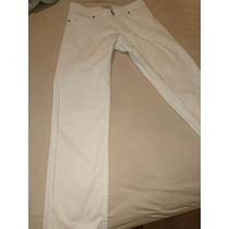 Jeans Chupin Blanco Impecable Marca Tucci