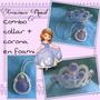 Combo Collar Y Corona Descendientes, Princesa Sofia En Foami