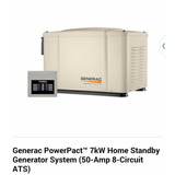 Planta Electrica Generac 7 Kw Con Transfer 50 Amp A Gas
