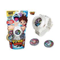 Yo-kai Watch Reloj Con 2 Medallas En Español Original Hasbro
