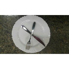 24 Kits Prato+ Garfo+ Faca Buffet Restaurante Oferta