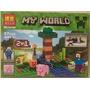 Minecraft Lego Alterno 2 En 1 Bosque Árbol Jardín Ataque Ste