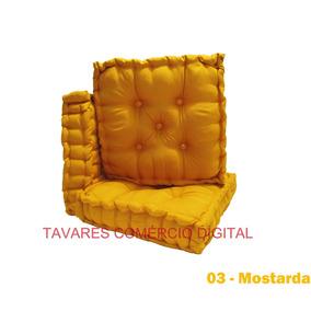 Almofada Futon Turco Turca 40x40 Luxo Decorativa