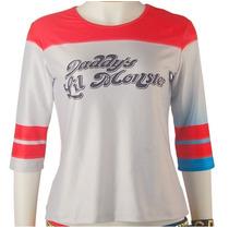 Camisa Cosplay Arlequina/harley Quinn