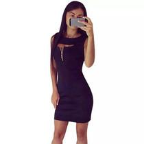 Vestido Negro Año Sexy Mujer Ropa Accesorios Moda Año Nuevo