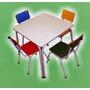 Conjunto De Mesa Com 04 Cadeiras Infantil Varias Cores