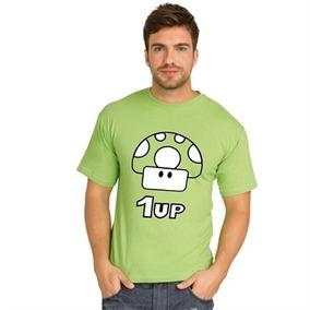 Camiseta Gamer - Mario Bros 1up Em Algodão