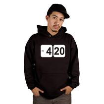 Blusa 4:20 Weed Hora Certa - Cannabis - Moletom Canguru !!!