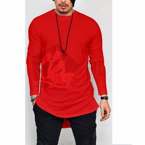 Camiseta Camisa Long Line Oversized Longa - Ja No Brasil