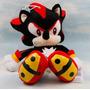 Boneco Sonic Negro Shadow Pelúcia - 28 Cm