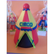 Carpa De Circo En Porcelana Con Dos Payasos