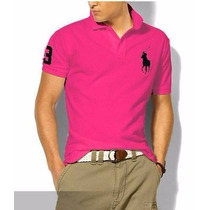 Kit C/ 6 Camisetas Camisas Gola Polo Ralph Lauren