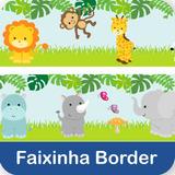 Faixa Border Zoo Safari Adesivo Parede Infantil Bebe Fb-41