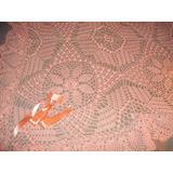 Pañoleta- Mantita- De Lana Color Rosa Palido Tejido Crochet