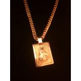 Collar Hombre Corazon De Jesus En Oro 18k (110gr)