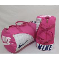 Kit 2 Bolsas Nike Grande E Pequena Viagem Academia Camping