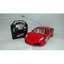 Carrinho Controle Remoto Ferrari Com Led Farol E Rodas
