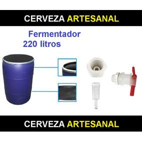 Fermentador Azul Hdpe Alimenticio 220 Litros Cerveza Artesan
