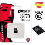 Memoria Micro Sd 8 Gb Clase 10 Kingston Adaptador Sd Celular