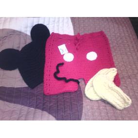Traje De Mickey Mouse Para Bebé Tejido.