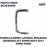Moldura Derecha Parrilla Ford Super Duty Cromada Xlt 2011