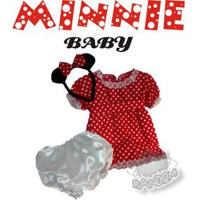Disfraz Artesanal Minnie Mouse Bebe T 2 Años Jugue Random