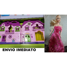 Casinha Boneca Infantil +boneca+acessórios/ Casa 48 X 25cm