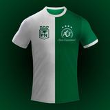 Camiseta Atlético Nacional E Chapecoense #jamaisesqueceremos