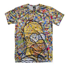Camiseta Simpsons Colagem Unissex Homer Bart