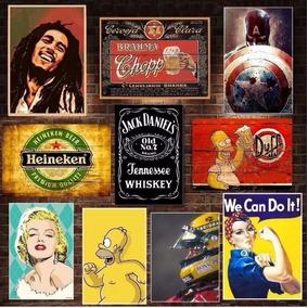 Placas Decorativas - Frases Bebidas Bar Cervejas Pin Up Mdf