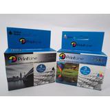 Combo Cartuchos 74 Y 75 Genericos Printline Xl Hp Compatible